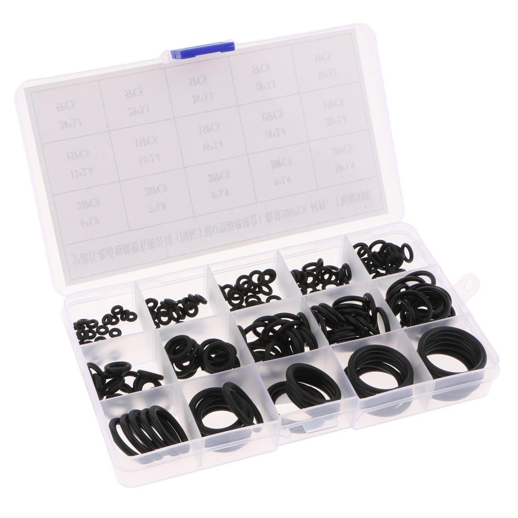 200 adet 15 Boyutları Otomotiv Oto Klima O-Ring Kauçuk NBR Yıkayıcılar Conta