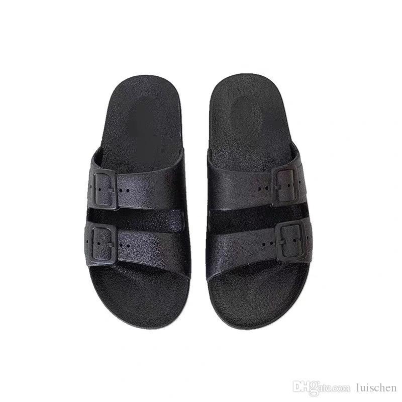 الشحن مجانا! 2020 الربيع الصيف مصمم أحذية الصنادل أزياء النساء الرجال جلد طبيعي مع مربع