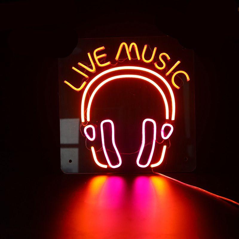2020 Custom Neon Sign Live Music LED Flex Neon Bar And