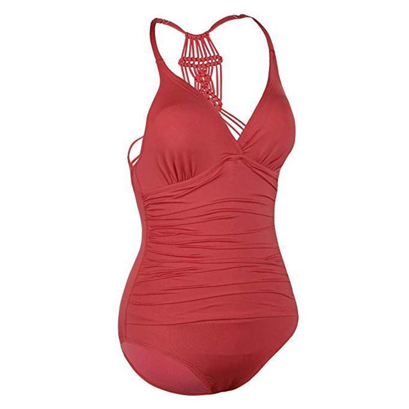 2020 de una pieza atractivo del traje de baño empuja hacia arriba el traje de baño de las mujeres de Monokini del traje de baño traje de baño Trajes de Baño Solid Body Negro / Rojo / Verde