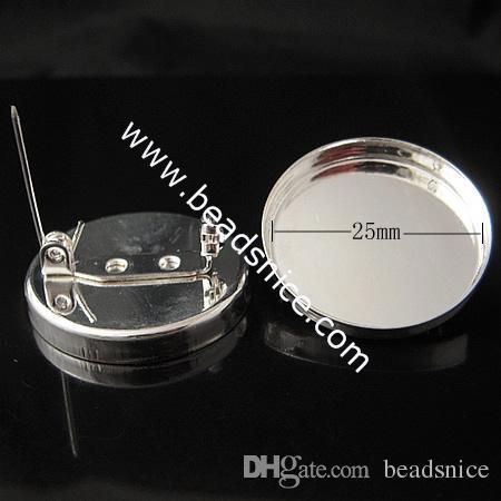 Beadsnice Brass Broschfynd bas Daiameter 25mm Enkel handgjord bly-säker nickelfri som gåva som säljs av PC ID10136