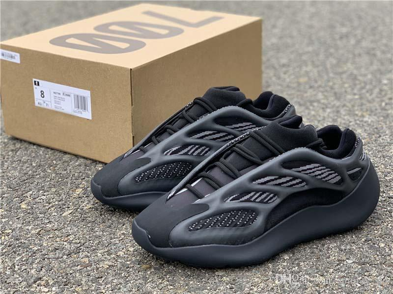 En Yeni Kanye West Originals 700 V3 Alvah Siyah Azael Ayakkabı 3M Yansıtıcı Dalga Runner Erkekler Kadınlar Spor Sneakers ile Kutusu H67799 Running