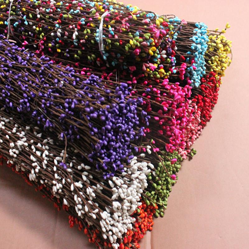 10PCS/LOT diy pretty pip berry stem for floral arrangemanet bracelet wreath wedding diy wreath artificial flower wreath