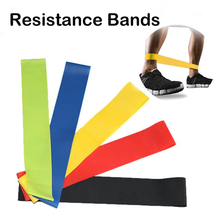 Natural Latex Rubber Resistance Bands Fitness Workout Elastic Yoga Pilates Band Exercise Muscle Home Gym For Leg Ankle Weight Training M225F