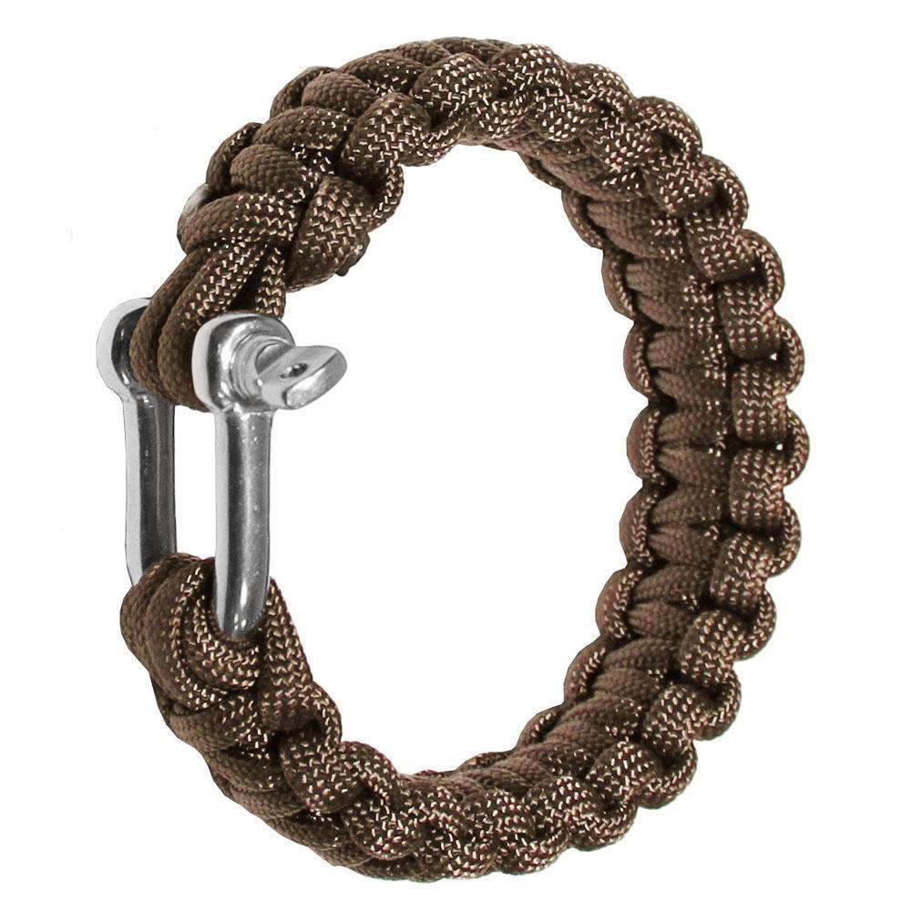 Recién al aire libre militar Supervivencia T Shap hebilla de acero cuerda del paracaídas de la cuerda pulseras tejidas brazaletes de emergencia 19ing