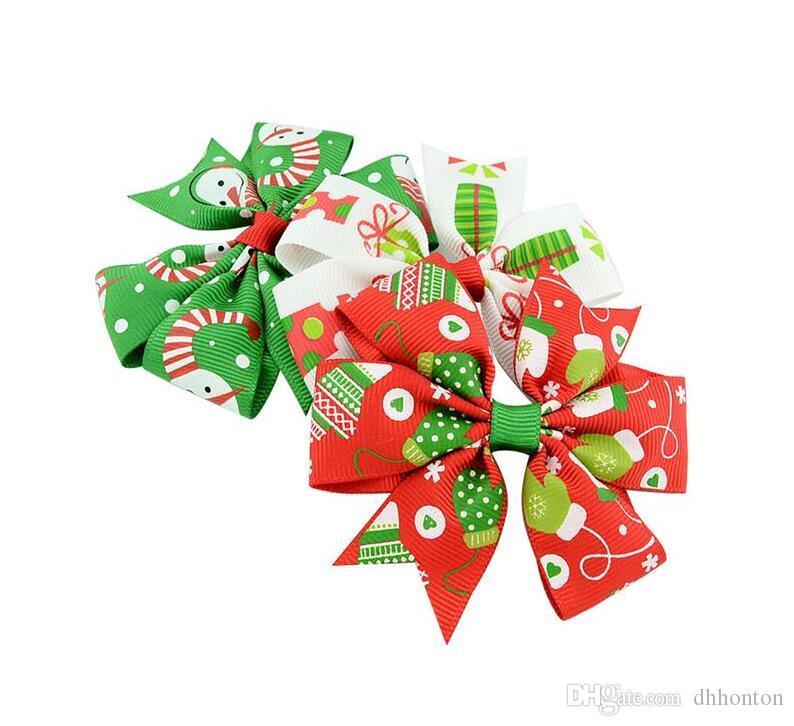 Weihnachten Kinderschmuck Bogen Haarspange Kinderschmuck 12 Arten für wählen Kann angepasst werden FP18