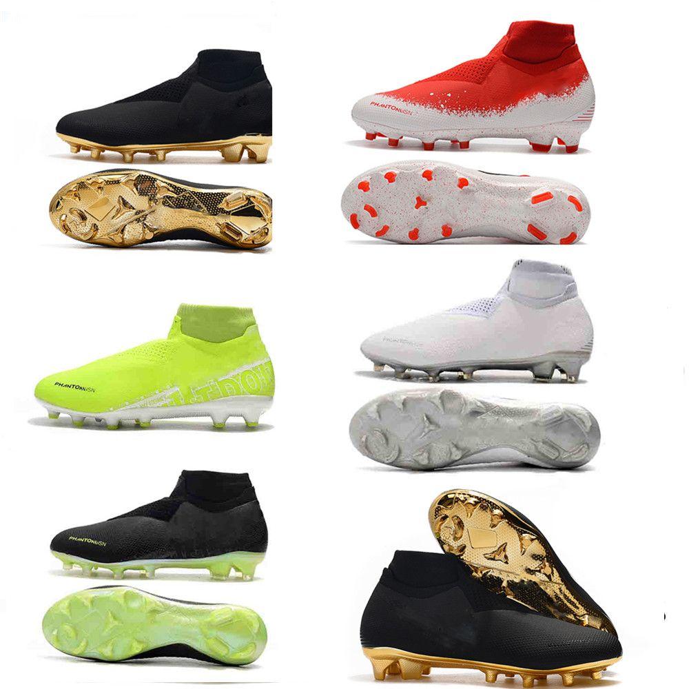 Scarpe da calcio Ronaldo CR7 originali in oro all'ingrosso nuove scarpe da calcio Phantom VSN Elite DF FG