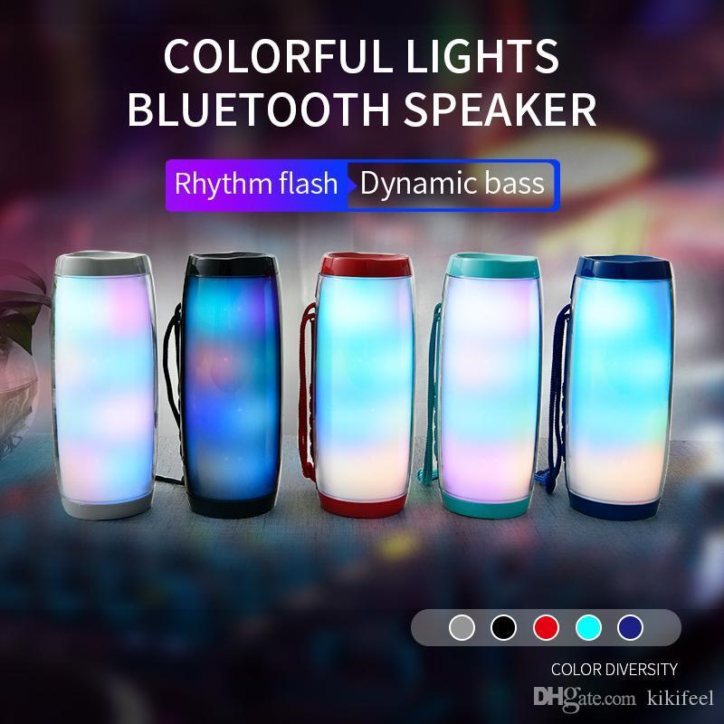 TG157 LED Lampeggianti Lampeggianti altoparlanti Bluetooth Portatile con corda Outdoor LOUNDSpeaker 1200 MAH Tessuto Impermeabile Subwoofer Subwoofer FM Radio