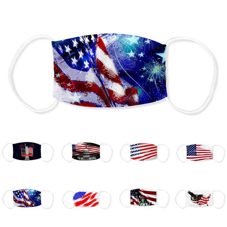 США Американский орел Белый дом Статуя Свободы дизайнер роскошных взрослых лицевой маски моющийся многоразовый Dust ветрозащитный защиты хлопок маски