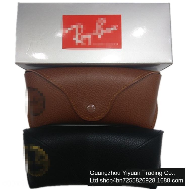 Grande ciottoli di caffè nero a due colori borsa morbida caffè contenitore di vetro Custodia in pelle occhiali possono lusso caso