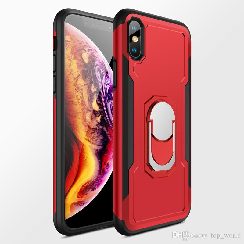 아이폰 X / 7 / 6 / 6S / 8Plus에 대 한 럭셔리 마그네틱 반지 스탠드 케이스 자동차 홀더 전화 케이스와 함께 전체 커버 쉘