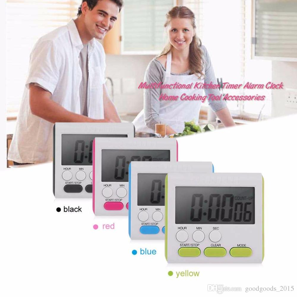 Multifunctional Practical Kitchen Timer Alarm Clock Home Cooking Supplies Cook Food Tools Kitchen Accessories c862