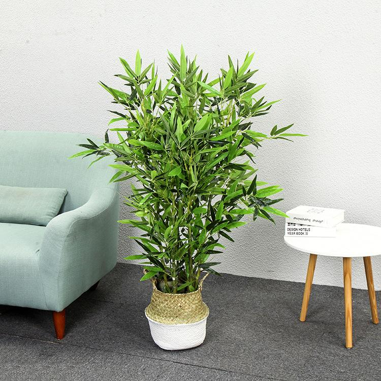 2020 Artificial Fake Bamboo 6 Stems 1 2m Small Bamboo With Pot