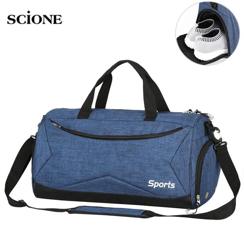 Dry wet Swimming Gym Bags Sac De Sport Handbags Gymtas Yoga Mat Bag for Men fitness Training Sports Tas Travel Outdoor XA617WA T191004