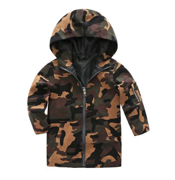 Primavera nuovo commercio estero abbigliamento per bambini bambini coreani marea tesoro incappucciato camuffamento cappotto WY228