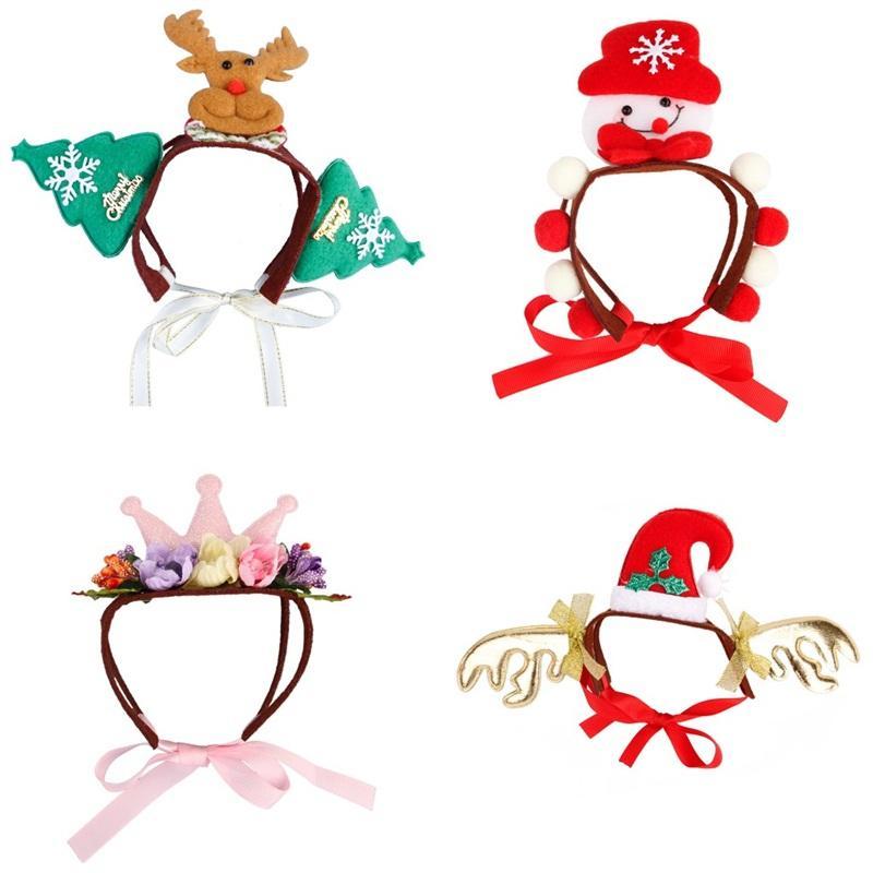 Hund Hut Dekorationen Katze Kopfbedeckungen Eine Vielzahl von Haustieren Schöne Weihnachten Kopfbedeckungen Heißer Verkauf Mit Verschiedenen Muster 7md J1