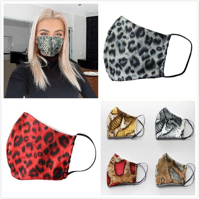 Moda 3D Leopar Baskılı Yüz Maske Kadınlar Yaz sunproof toz geçirmez Anti-sis Haze Maskeleri Ağız Kapak Unisex Nefes Yıkanabilir maskesi