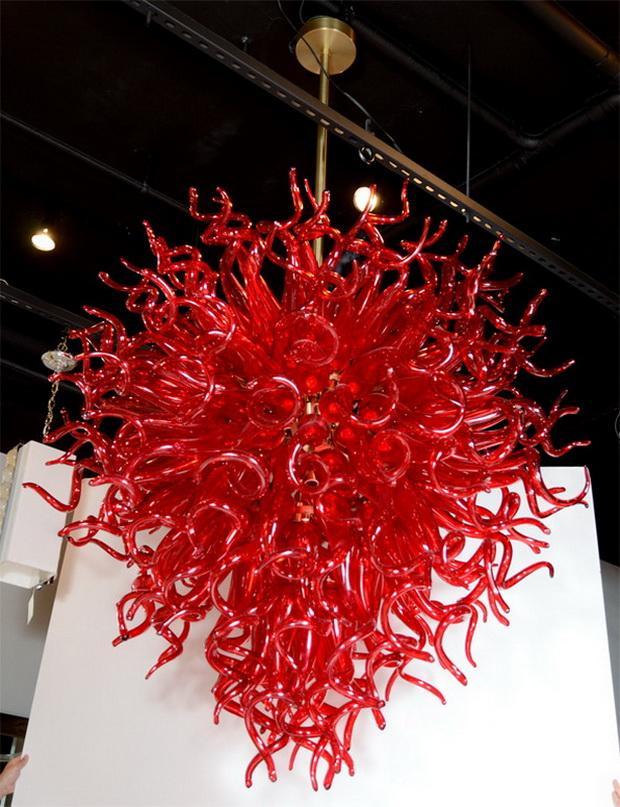 Großer Diskont Großer Chihuly Art Kronleuchter Made in China, Rot, Glas European Style Energiesparbeleuchtungskörper
