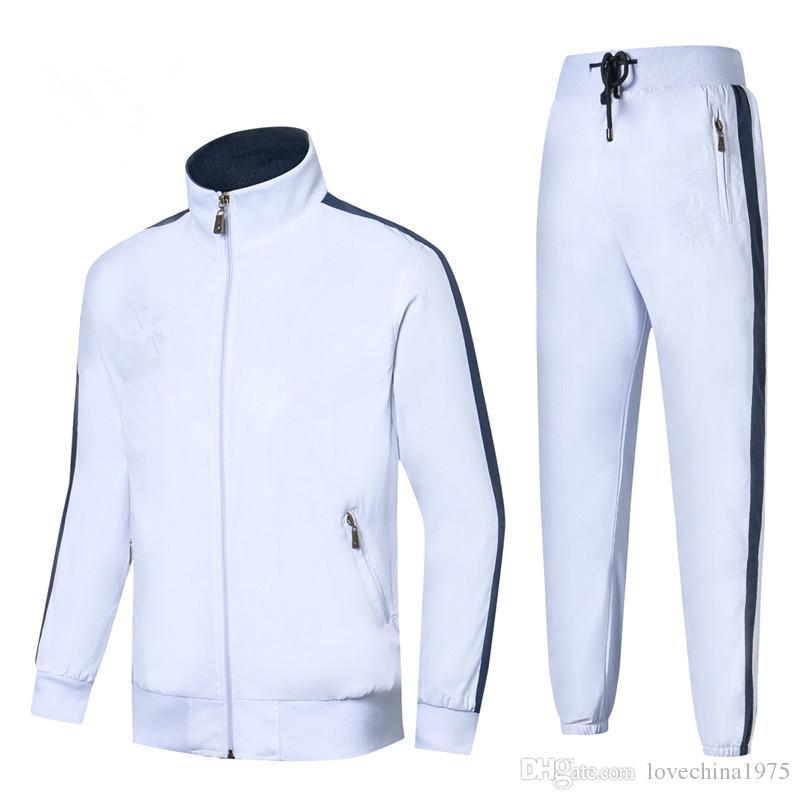 Autumn Men full zip tracksuit sport suit cheap sweatshirt and pant suit hoodie and pant set sweatsuit Men Leisure Sport Suit