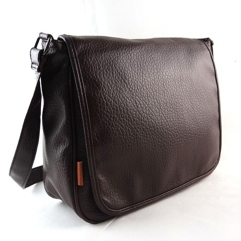 de los hombres de moda MICKY KEN bolsa de mensajero de los hombres clásicos retro patrón de bolso de la computadora de negocio lichi PU ocio bagMX190907 100% de los hombres de cuero