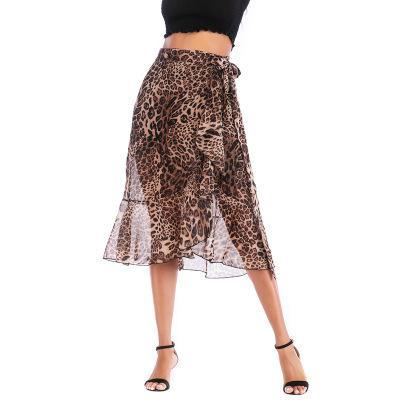 Verano de las mujeres de la moda Leopard Faldas nueva llegada casual mujeres imprimió los vestidos de la alta calidad de la ropa del vestido del tamaño S-XL