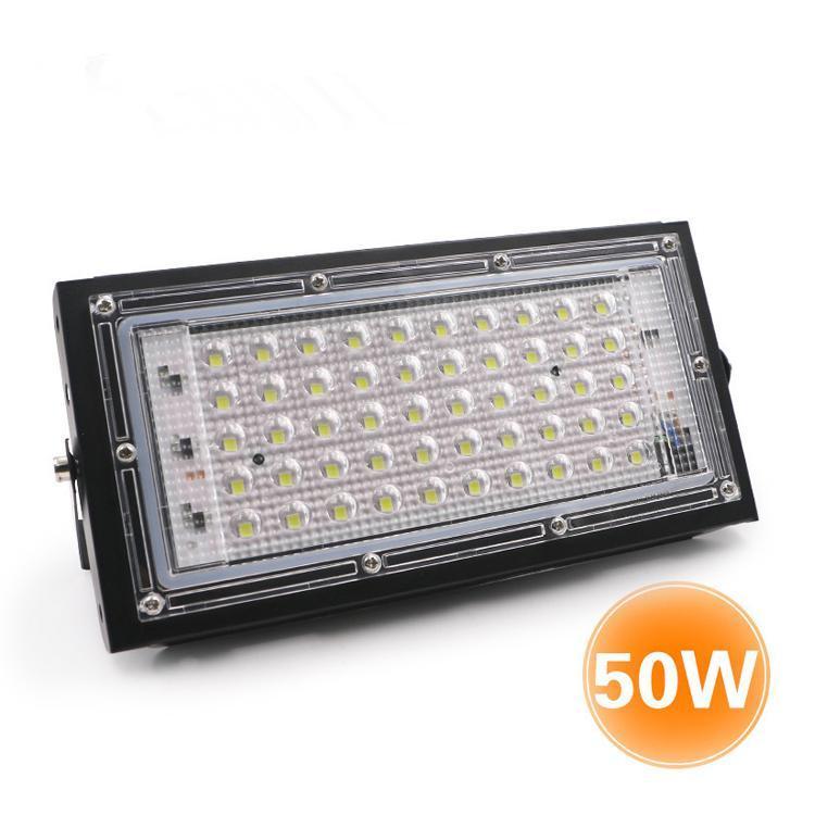 Luz de inundação 50w AC110V 220V impermeável Spotlight IP65 Outdoor Jardim Iluminação projectores Led refletor lançar luz