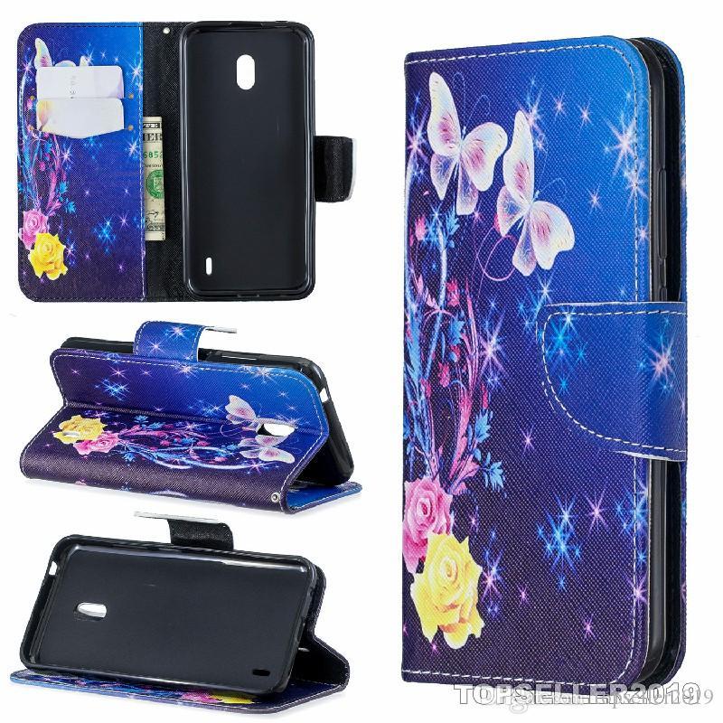 NOKIA 2.2 stand design Porte-monnaie style coloré concepteur étui en cuir téléphone Housse téléphone avec cas et détenteur de la carte B279
