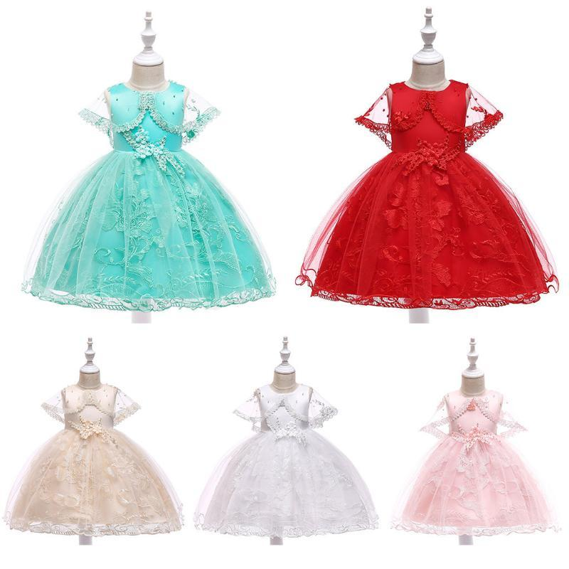 Baby Girls Princess Dresses Kids Party Wedding Pageant Floral Sundress Clothes