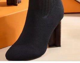 Designer-ter Knitted elastic boots luxury Designer Short boots socks boots Large size 35-42 High heeled shoes