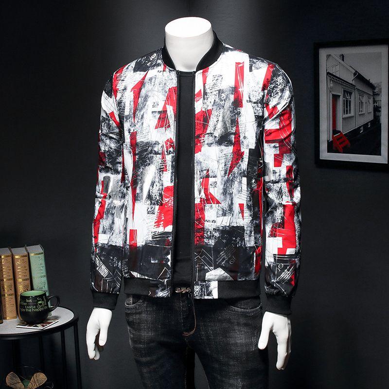 2020 New Spring jacquard Bomber Giacche Uomo Abbigliamento di lusso Bomber Jacket Outfit partito Outfit Club Bar cappotto degli uomini Casaca Hombre