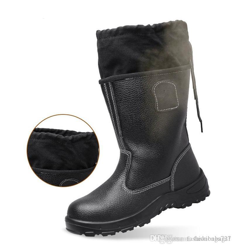 Chaussure de sécurité Hommes acier Toe Cap Sport Travail en plein air Chaussures de protection Bottes bottillons sécurité Bottes de travail Fur Boot Martin Bottes femmes
