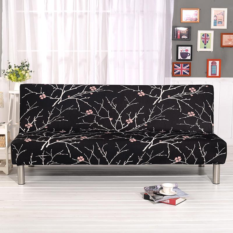Fine Black Plum Blossom Sofa Bed Cover Folding Chair Seat Slipcovers Stretch Covers Cheap Couch Protector Elastic Futon Bench Covers Couch Slips Seat Gmtry Best Dining Table And Chair Ideas Images Gmtryco