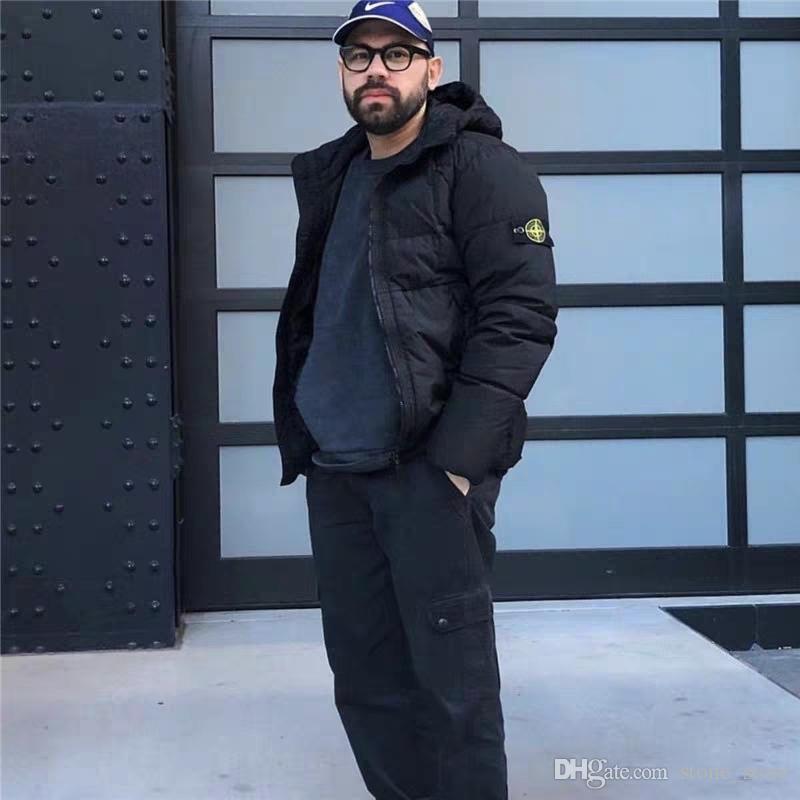 رجل إلى أسفل دثار المواد المستوردة أعلى إلى أسفل دافئ أعلى درجة الكمال قطاع بارد تشغيل التدريب الحارة الأزياء مطاطا الأصفاد هوديس سترة