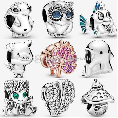 2019 Осень серебра животных рыб свободных шарики 925 серебряных амулетов Fit для Pandora оригинальных браслетов ожерелья новых ювелирных изделий способа