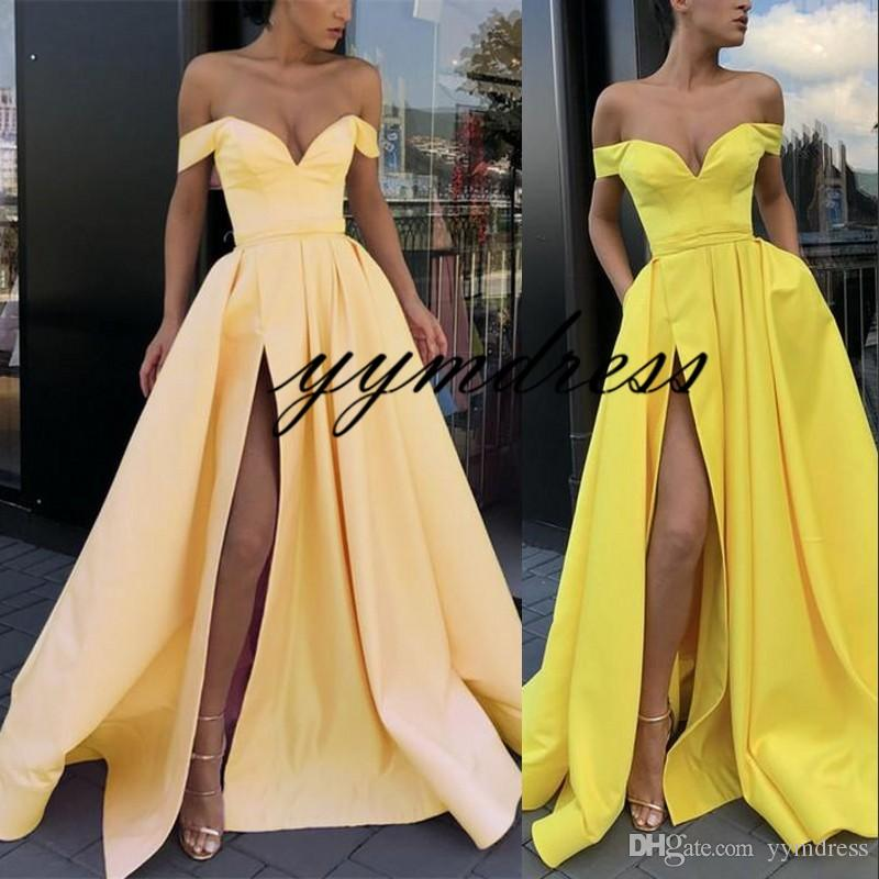 African Prom Dresses 2019 Off The Shoulder Sleeveless Front Split Pageant Robe De Soiree Evening Gowns Celebrity Special Occasion