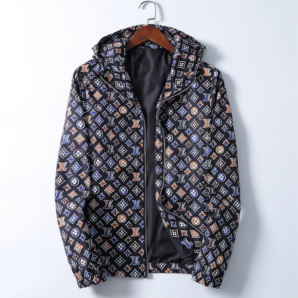 Fashion Jacket Windbreaker Long Sleeve Men's Jacket Hoodie Clothing Zipper with Animal Alphabet Pattern Plus Size Clothes M-3XL