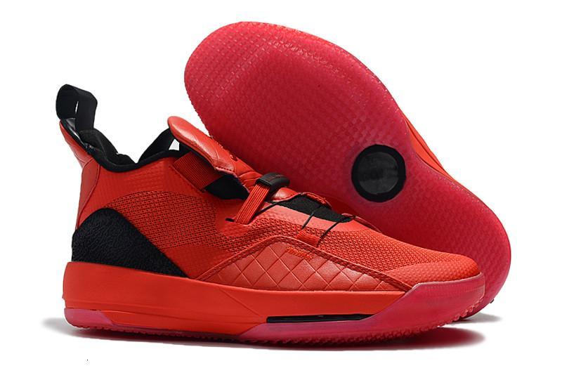 Le migliori scarpe di qualità Jumpman XXXIII 33 di pallacanestro del Mens di vendita calda 33s Rosso Nero Outdoor allenatori sportivi scarpe da tennis Taglia Eu40-46