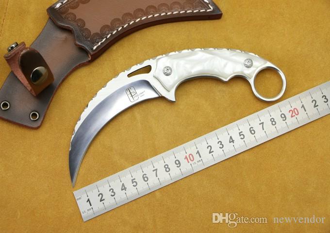 Yeni Varış Karambit Sabit Bıçak Pençe Bıçak 9Cr18 Saten Blade Tam Tang Kolu Açık Survival Taktik Bıçaklar EDC Araçları