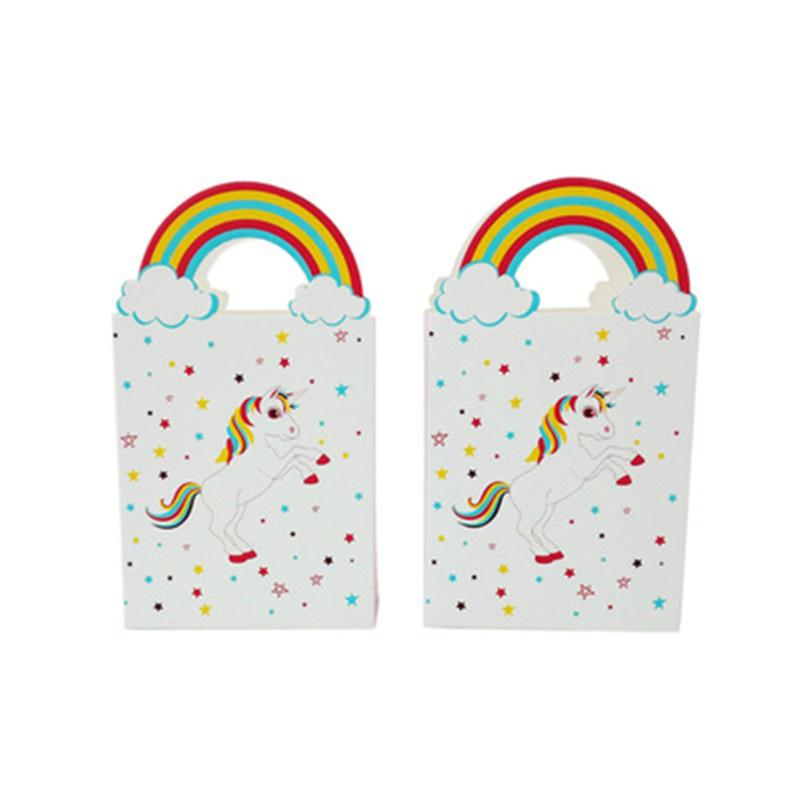 Подарочные пакеты для единорога Товары для вечеринок Свадебные сувениры Сумка для конфет Бумажные сумки Упаковочные пакеты Сумки для упаковки товаров для вечеринок