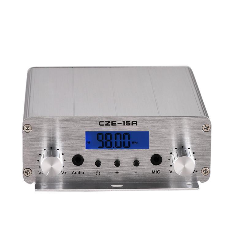 Trasmettitore FM FreeShipping 70-90MHz CZE-15A 15W wireless per la stazione radio mini