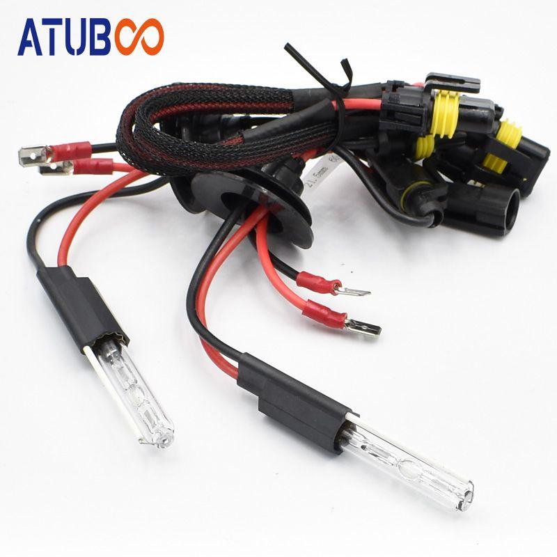 35W Spécial Xenon Ampoule pour 3 '' HID Lentille de projecteur de remplacement 12V Hid Ampoule 6000k couleur Q5 lampe de projecteur