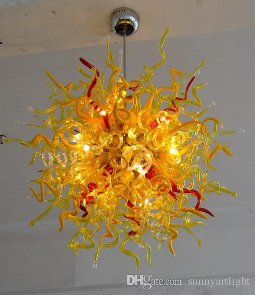 India Wedding Chandeliers Wholesale Price 110V-220V LED Multi Colored Blown Glass Chandelier Christmas Decor Murano Style