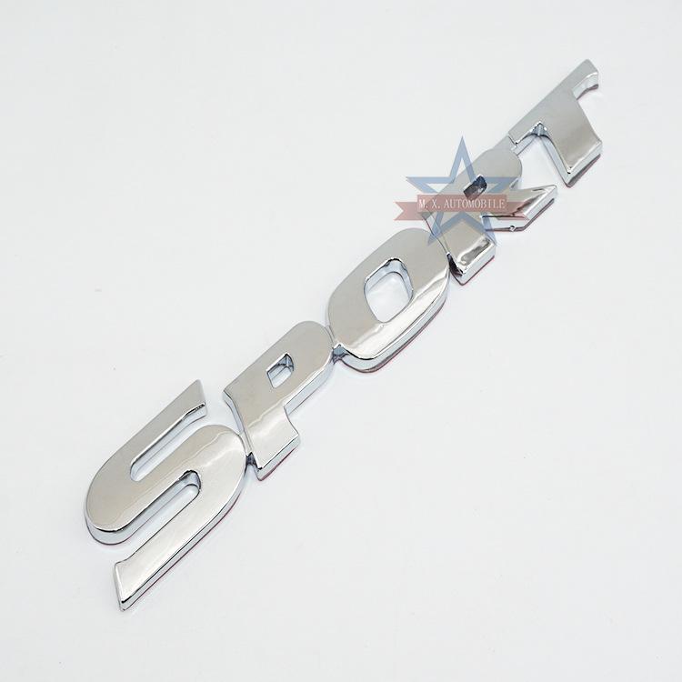 SPORT marque de queue Applicable à logo Toyota Highlander SPORT logo Porte latérale ABS autocollants autocollant décoration voiture matériel
