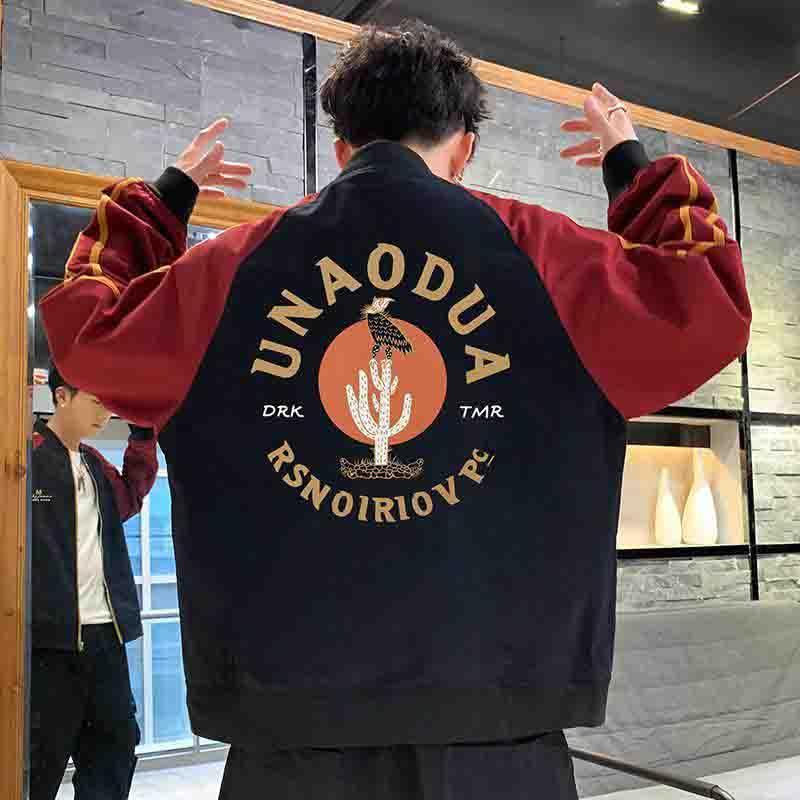 2020 rivestimenti degli uomini di Moda Uomo con pannelli stand colletto della giacca con stampa della lettera di autunno della molla casual Abbigliamento Uomo Dimensione M-3XL 2 colori Love_