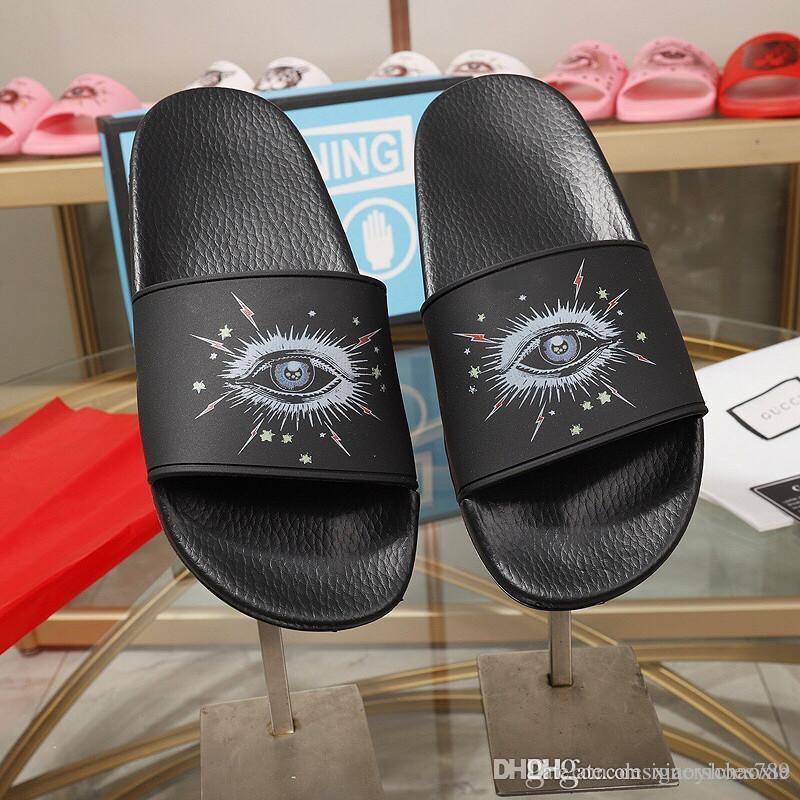 Flip-Flops Damen Slides Plattform Sandalen Fashion 2019 Frauen Sandalen Scuffs Zehensandale mit Box