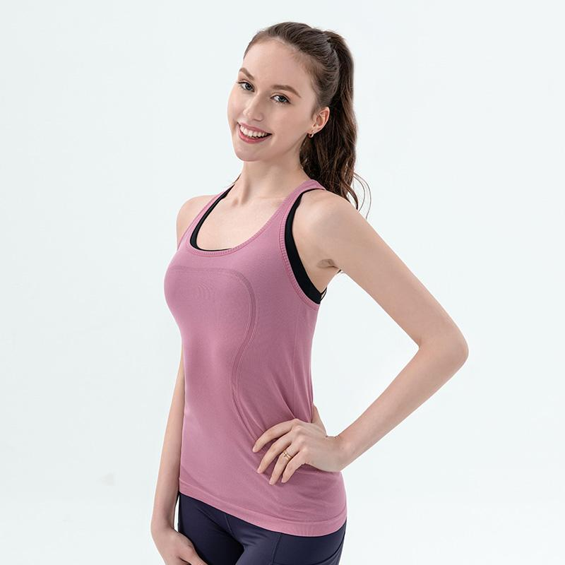 Femmes Sexy Yoga Gilet T-shirt à séchage rapide exercice Sports Fitness Tank Top Yoga Courir Hauts Gym Jogging Gilet