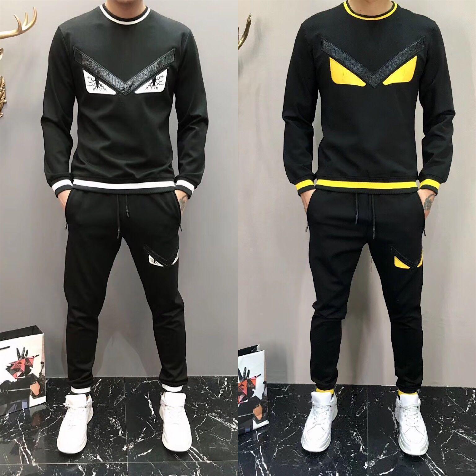 Yüksek Kaliteli Erkek Tişörtü Eşofman Marka Tasarım Giyim Erkek eşofman Ceketler Spor Moda L Tasarımcı Lüks Erkek Suits Sweat