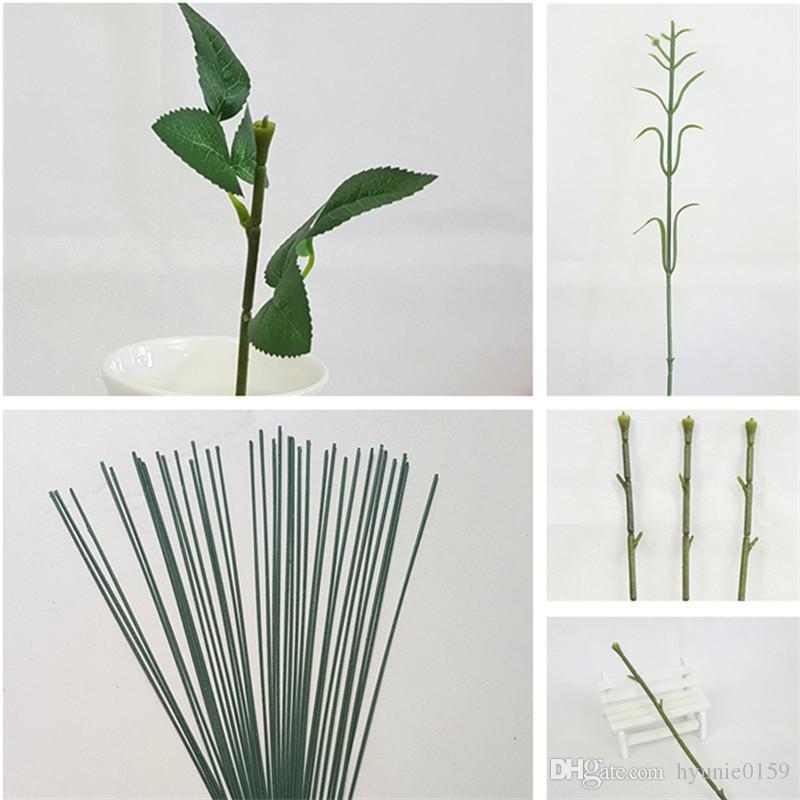 200個15cm / 17cm / 25cm人工的な偽のバラの花の茎diy手作りの花の家の装飾