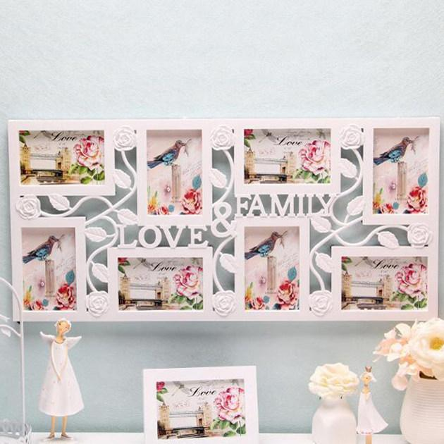 사진 프레임 가족 사랑 대형 멀티 8 사진 벽 홈 벽 장식에 대한 콜라주 베이비 샤워 웨딩 생일 선물을 매달려