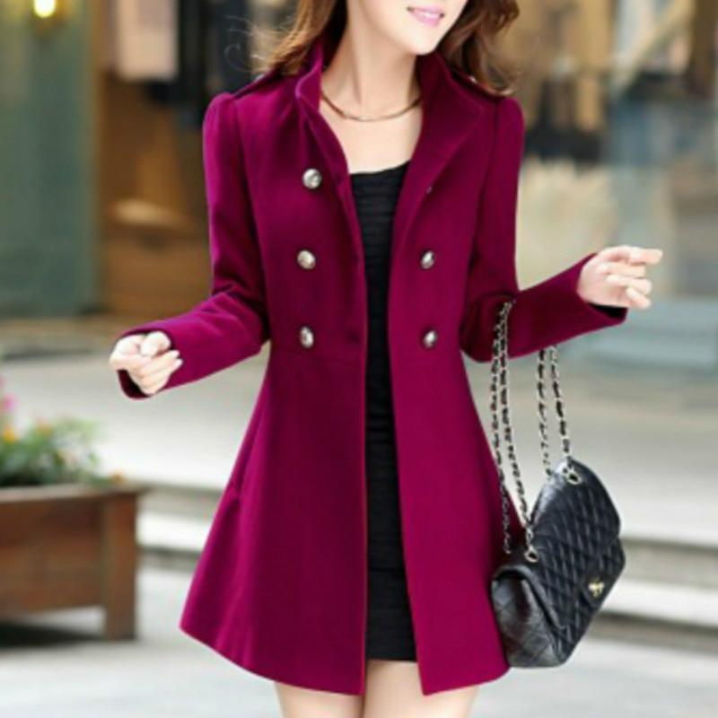 XUXI 2019 manteau de laine, femmes automne dames hiver manteau de Cachemire veste mince femmes vêtements femme manteau dames manteaux FZ269